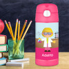 Cute Scientist Girl Thermos Bottle