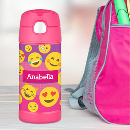 Girl Emojis Thermos Bottle