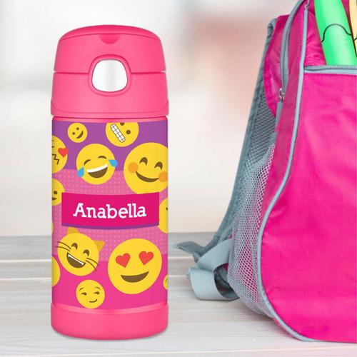 Girl Emojis Thermos Bottle