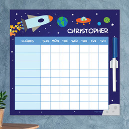 Rocket Launch Kids Chore Chart