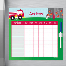 Fighting Fire Chore Chart For Kids
