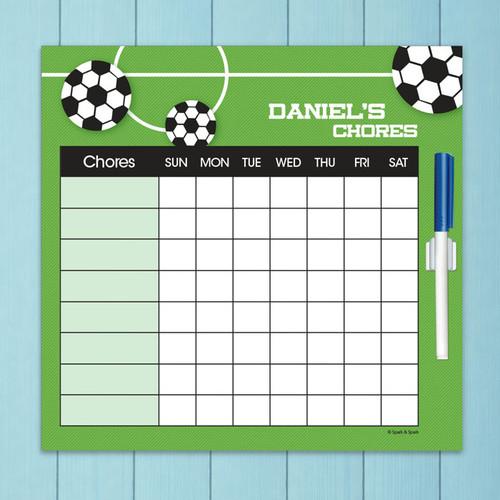 Soccer Fan Chore Chart For Teens
