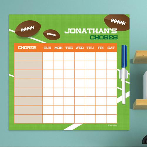 Football Fan Toddler Chore Chart