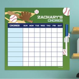 Baseball Fan Chore Calendar