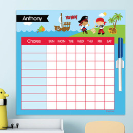 Yo Ho Pirate Customizable Chore Chart