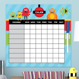 Monster Attack Weekly Chore Chart