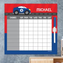 Super Fast Car Chore Calendar