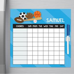 Sports Fan Childrens Chore Chart