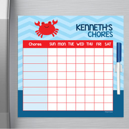 Happy Crab Kids Chore Chart
