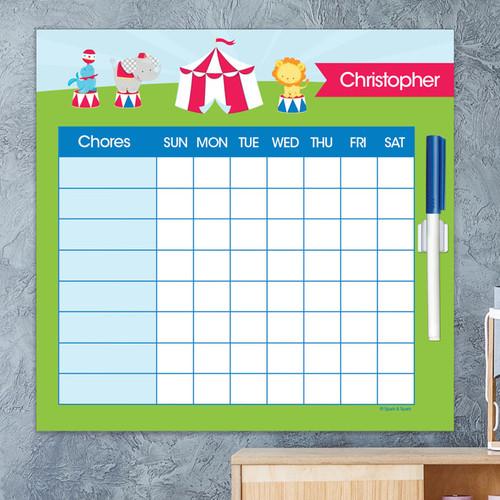 Fun Circus Chore List For Kids