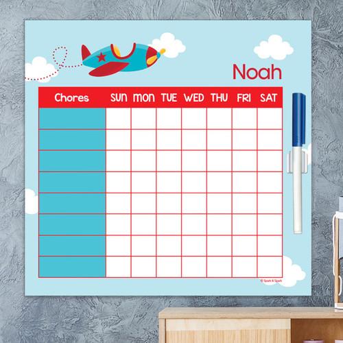 Fly Little Plane Kids Chore Chart