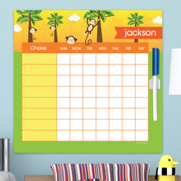 Monkeys In The Jungle Chore Chart For Teens