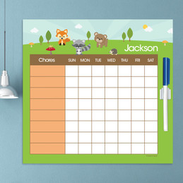 Cute Animals In The Forest Charts For Kids