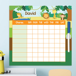 Cute Jungle Animals Toddler Chore Chart