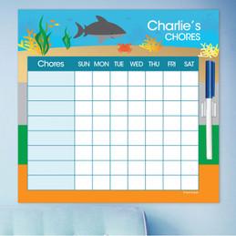 Shark Waves Weekly Chore Chart