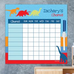 Dinosaur Trails Customizable Chore Chart