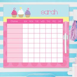 Sweet Cupcakes Editable Chore Chart