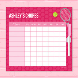 Tennis Fan Chore Chart For Kids