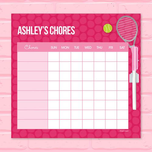 Tennis Fan Chore Chart For Kids
