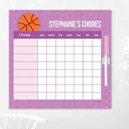 Basketball Fan Chore List For Kids