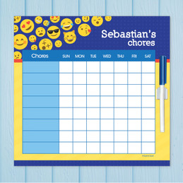 Boy Emojis Kids Chore Charts