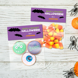 Flying Bats Halloween Treat Bags