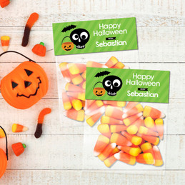 Cute Eskeleton Halloween Treat Bags