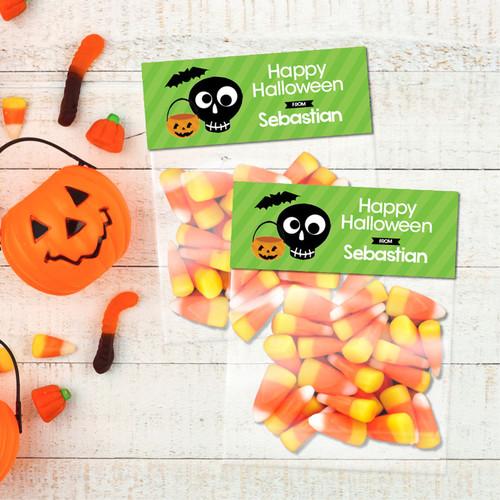 Cute Eskeleton Halloween Treat Bags
