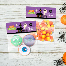 A Ghost in the Town Halloween Treat Bags