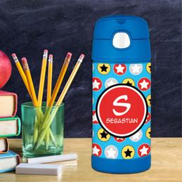 Super Hero Stars Thermos Bottle