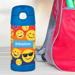 Boy Emojis Thermos Bottle