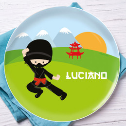 Cool Super Ninja Kids Plate