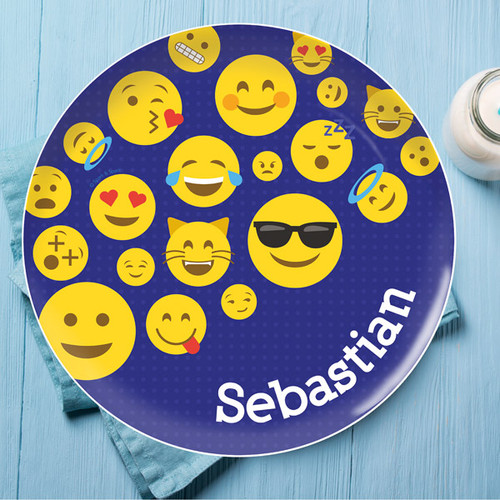 Boy Emojis Kids Plate