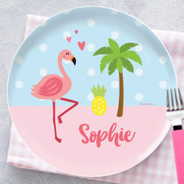 Sweet Flamingo Love Kids Plates