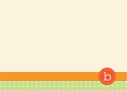 Fantastic Personalized Stationery Sets   Monogram Stamp Orange
