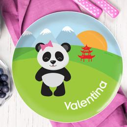 Sweet Panda Kids Plates