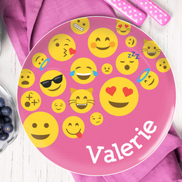 Girl Emojis Kids Plate
