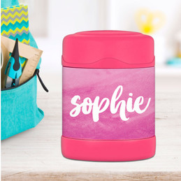 Bold Colorful Name Thermos Food Jar
