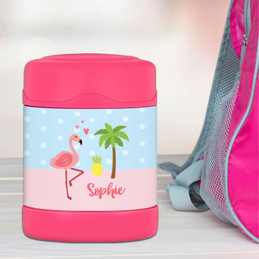 Sweet Flamingo Love Thermos Food Jar