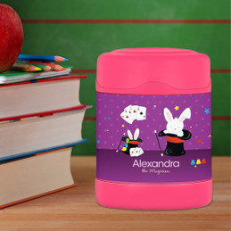 Cute Girl Magician Thermos Food Jar