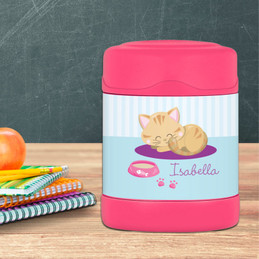 Cute Little Kitten Thermos Food Jar