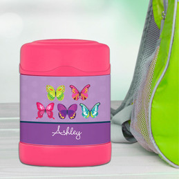 Bright Butterflies Thermos Food Jar