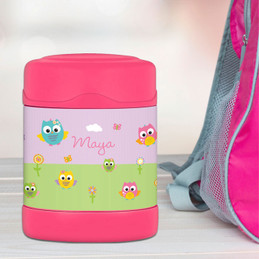 Owls on the field Thermos Food Jar