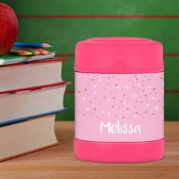 Sweet Glitter Dots Thermos Food Jar