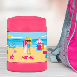 Beach Girl Thermos Food Jar