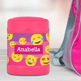 Girl Emojis Thermos Food Jar