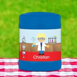 Cool Scientist Boy Thermos Food Jar