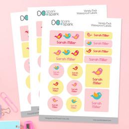 Sweet Little Birds Waterproof Labels Variety Pack