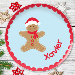 Xmas Cookie for me Blue Kids Plate