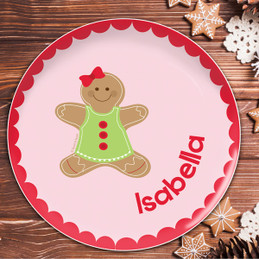 Xmas Cookie for me Pink Kids Plate